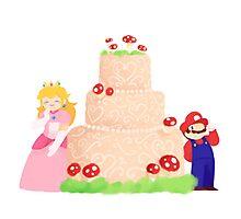 Smash Food - Toadstool Cake Photographic Print