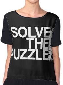 Solve the Puzzle Hellraiser Chiffon Top