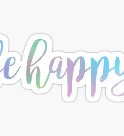 Be Happy Cool Colors Sticker