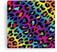 Rainbow Leopard Print Canvas Print