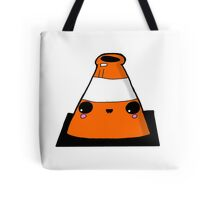 Kawaii Cute Traffic Cone Glasgow Tote Bag