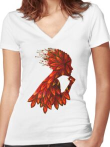 Wings of thought Women's Fitted V-Neck T-Shirt