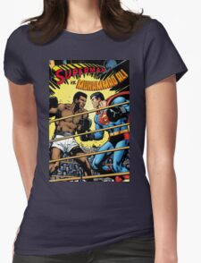 Muhammad Ali v Superman Womens Fitted T-Shirt