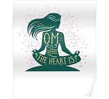 Om is Where the Heart is Poster