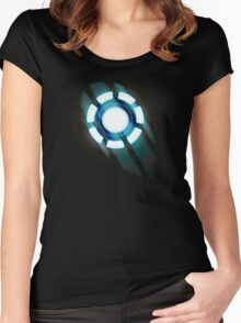 Arc Reactor T-shirt Design Women's Fitted Scoop T-Shirt