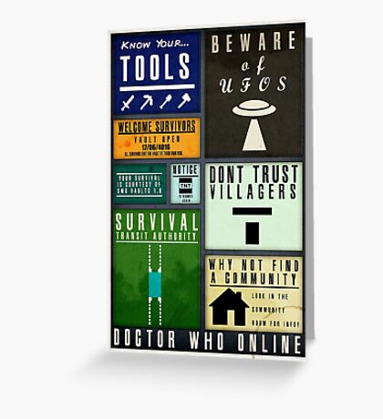 DWO Minecraft - Survival Poster 4 Greeting Card