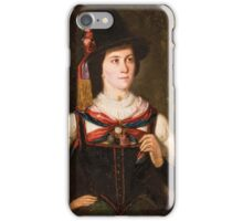 Portrait of a Tyrolean costume in iPhone Case/Skin