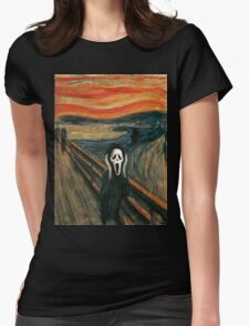 (The) Scream Parody Womens Fitted T-Shirt