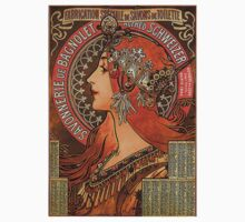 Savonnerie de Bagnolet by Alphonse Mucha (Reproduction) Kids Tee