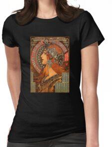 Savonnerie de Bagnolet by Alphonse Mucha (Reproduction) Womens Fitted T-Shirt