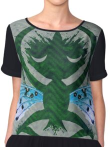 Haunted Solstice Moon Winged Thing Women's Chiffon Top