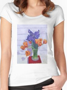 Tulips and Irises  Women's Fitted Scoop T-Shirt