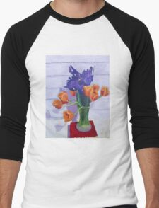 Tulips and Irises  Men's Baseball ¾ T-Shirt