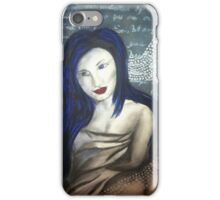 Lady Blue Lives in Memories iPhone Case/Skin