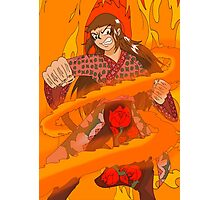 Raiden Legacy - Flaming Flower (Action) Photographic Print