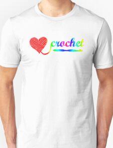 Heart Crochet Rainbow Unisex T-Shirt