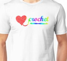 Heart Crochet Rainbow Unisex T-Shirt