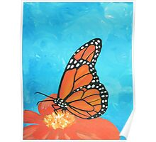 Colorful Monarch Butterfly  Poster