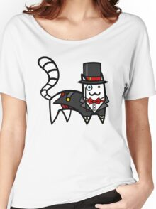 Top Hat Cat Women's Relaxed Fit T-Shirt