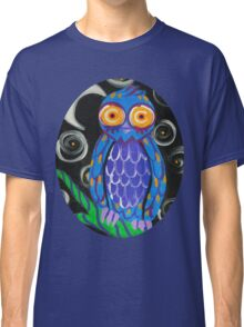 Whimsical Retro Style Owl Classic T-Shirt