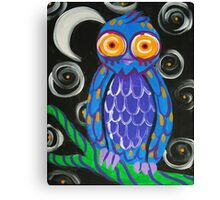 Whimsical Retro Style Owl Canvas Print