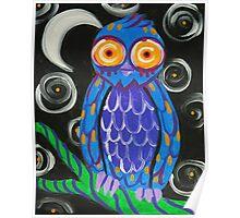 Whimsical Retro Style Owl Poster