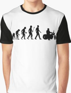 Evolution of Man Motorcycle Graphic T-Shirt