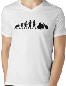 Evolution of Man Motorcycle Mens V-Neck T-Shirt