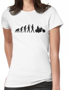 Evolution of Man Motorcycle Womens Fitted T-Shirt
