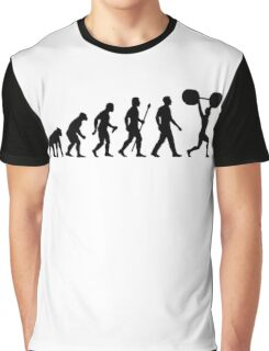 Funny Weightlifting Evolution Shirt Graphic T-Shirt