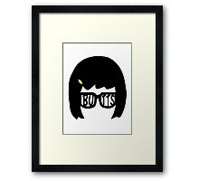 Tina Belcher: Butts (version one) Framed Print