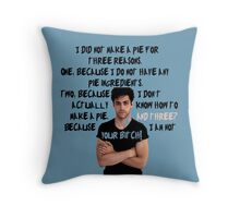 Alec Lightwood and his pie Throw Pillow