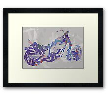 Groovy Bike Framed Print
