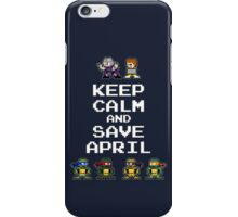 8-Bit TMNT- Keep Calm and Save April iPhone Case/Skin