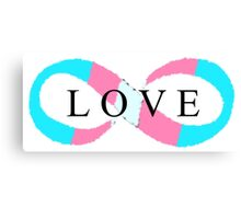 Infinite Love (transgender colors) Canvas Print