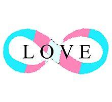 Infinite Love (transgender colors) Photographic Print