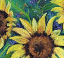 Abstract Sunflowers by Renee L Lavoie Sticker