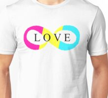 Infinite Love (pansexual colors) Unisex T-Shirt