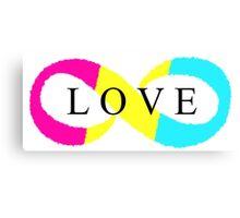 Infinite Love (pansexual colors) Canvas Print