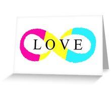 Infinite Love (pansexual colors) Greeting Card