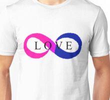 Infinite Love (bisexual colors) Unisex T-Shirt