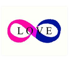Infinite Love (bisexual colors) Art Print
