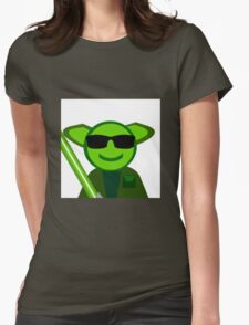 Yoda Shades Womens Fitted T-Shirt
