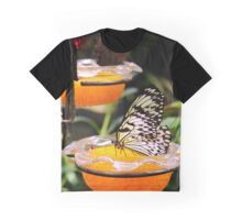 Long Island's Exhibition Center - Butterflies Feeding On Fruit At Feeding Station | Riverhead, New York Graphic T-Shirt