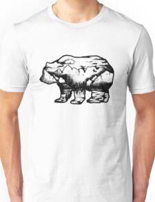 Landscape in a bear shape Unisex T-Shirt