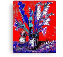 Gladiolus In A Can Canvas Print