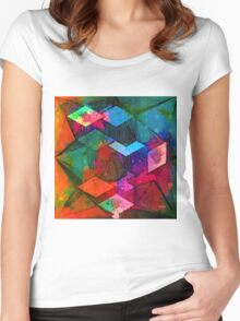 Isometric Tangles Women's Fitted Scoop T-Shirt