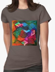 Isometric Tangles Womens Fitted T-Shirt