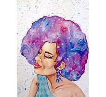 Galaxy Afro Photographic Print