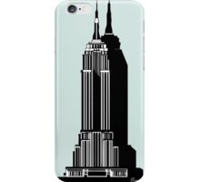 Empire State Building Deco Swing in blue iPhone Case/Skin